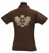 LADIES HERITAGE POLO SHIRT S (BROWN)