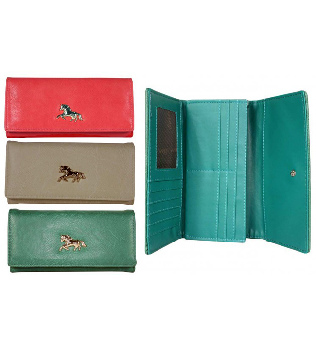 Asstd Purses With Gold Horse Design