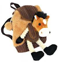 Brown Horse Rucksack With Detachable Toy