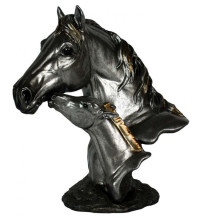 Mare & Foal Bust Pewter Colour